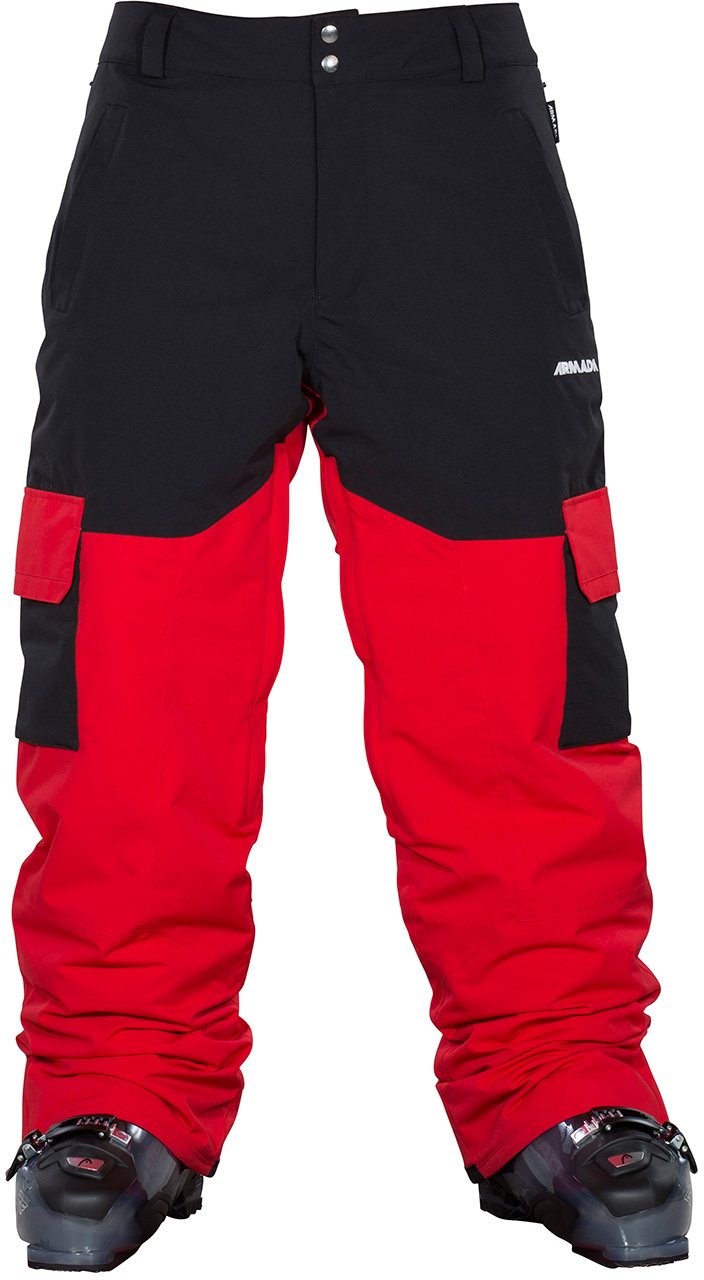 ARMADA kalhoty snow HARLAUT INSULATED PANT red