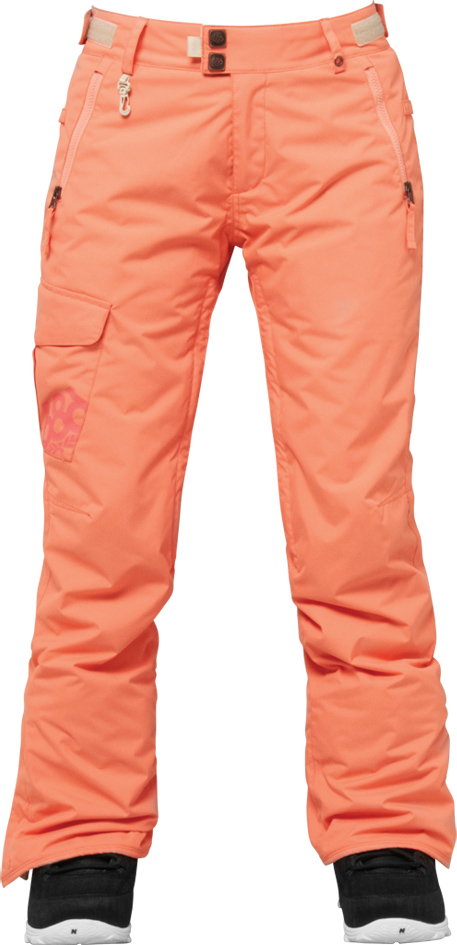 kalhoty snow AUTHENTIC MISTY PANT coral