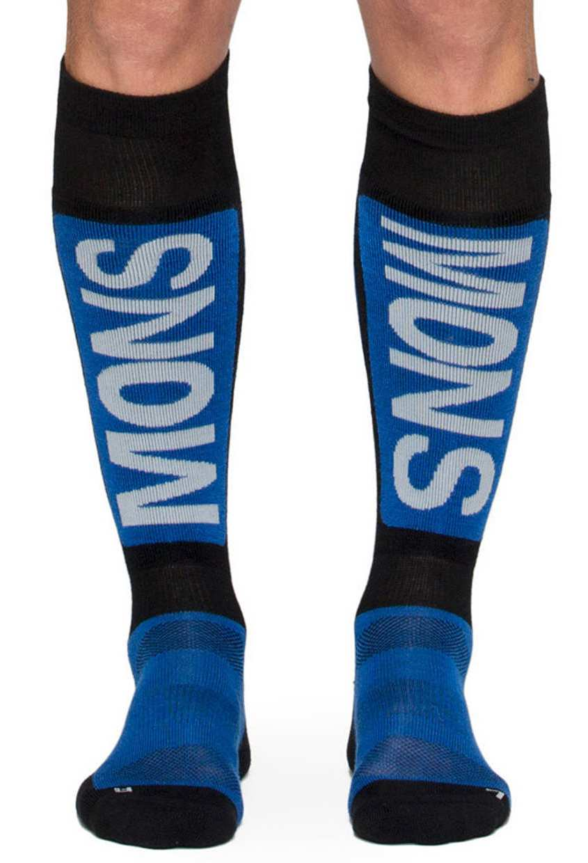 merino ponožky MENS TECH SNOW SOCK bay blue / black / grey