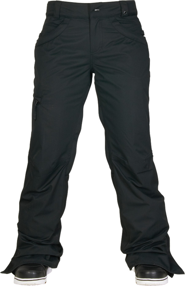 kalhoty snow WMNS AUTHENTIC PATRON INS PANT black herringbone