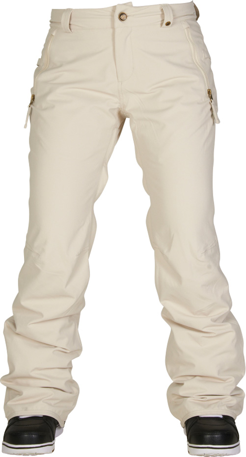 kalhoty snow WMNS AUTHENTIC STANDARD PANT ivory diamond dobby